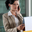 Employee on the phone — Stock Photo