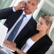 CEO and assistant in appointment — Stock Photo #16488921