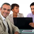 Small business team having discussion — Stock Photo