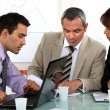 Stock Photo: A group of businesspeople having a meeting