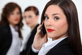 Business woman at phone — Stock Photo