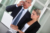 CEO and assistant in appointment — Stock Photo