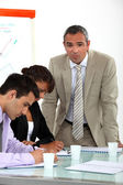 Business colleagues on a vocational training — Stock Photo