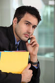A businessman over the phone. — Stock Photo