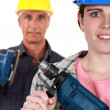 Manual workers and tools — Stock Photo #16493423