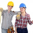 A team of tradeswoman — Stock Photo