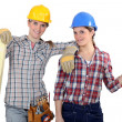 Stock Photo: Team of tradeswoman