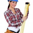 Foto Stock: Female carpenter