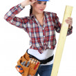 Female carpenter — Stock fotografie