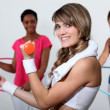 Stock Photo: Women at the gym