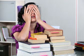 Overwhelmed law student — Stock Photo