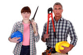 Couple of artisans — Stock Photo