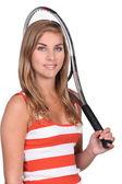 Professionele tennisspeelster — Stockfoto