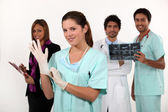 Doctors and nurses — Stock Photo
