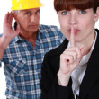 Noise on a construction site — Stock Photo