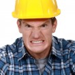 Stock Photo: Angry builder