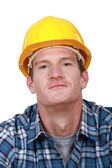 Portrait of a contented tradesman — Stock Photo
