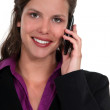 Portrait of beautiful businesswoman on the phone — Stock Photo