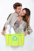 Recycling plastic bottles — Stock Photo