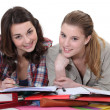 Two female students revising together — Stock Photo #16618131