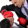 Stock Photo: Two businessmen boxing