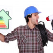 Stock Photo: Talking about energy efficiency