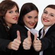 Businesswomen giving the thumb — Stock Photo