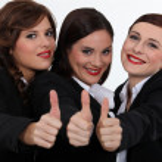 Businesswomen giving the thumb — Stock Photo #16619317