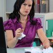 Frustrated writer — Stock Photo