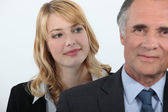 Woman admiring her boss — Stock Photo