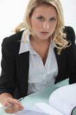 Secretary scheduling an appointment — Stock Photo