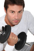 Working out at the gym — Stock Photo