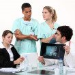 Hospital staff hard at work — Stock Photo