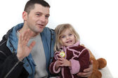 Portrait of a dad and his daughter — Stock Photo
