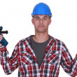 Clueless laborer — Stock Photo