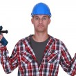 Clueless laborer - Stock Photo