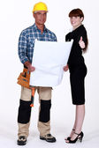 Foreman and architect — Stock Photo