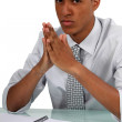 Young Afro-American businessman posing — Stock Photo #16725823