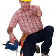 Stock Photo: Builder giving thumbs up