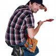 Plumber, studio shot — Stock Photo #16759341