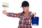 A female painter. — Stock Photo