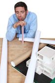 Businessman looking tired and bored — Stock Photo