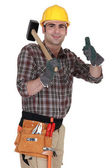 Happy carpenter — Stock Photo