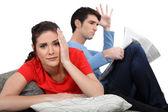 Couple having an argument. — Stock Photo