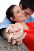 Affectionate couple enjoying each other — Stock Photo