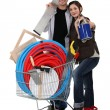 Royalty-Free Stock Photo: Couple tool shopping.