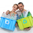 Couple waste sorting — Stock Photo #16781023