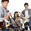 Stock Photo: Garage band.