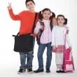 Three school children — Stock Photo