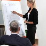 Businesswoman giving presentation — Stock Photo